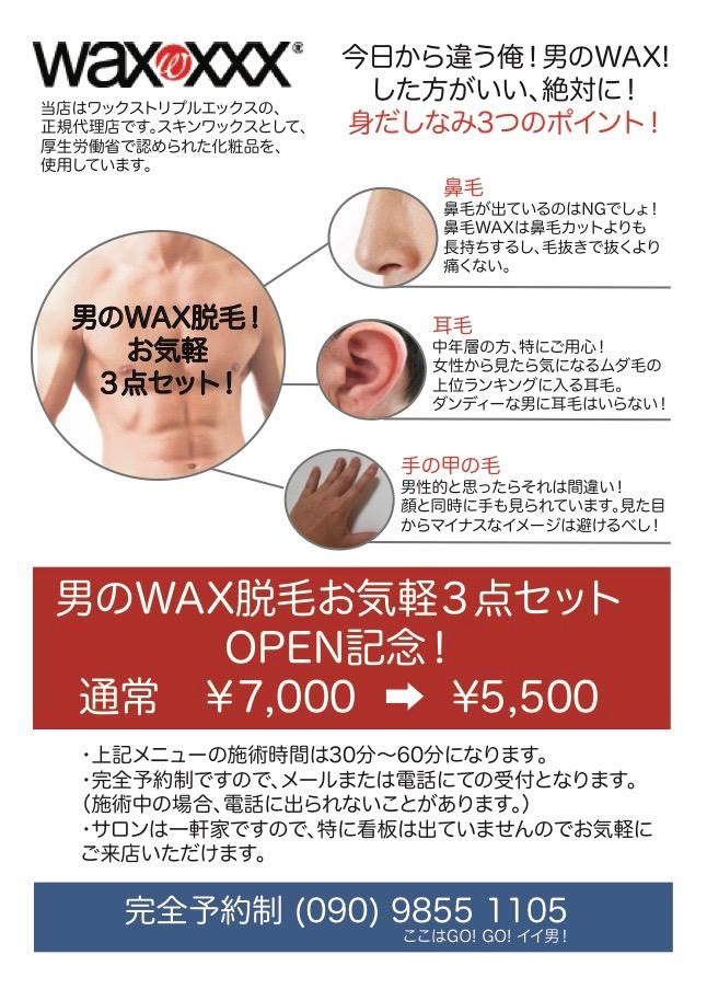 mens wax flyer